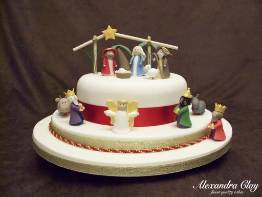 Nativity Christmas Cake Design : Nativity Christmas Cake Cake projects and ideas